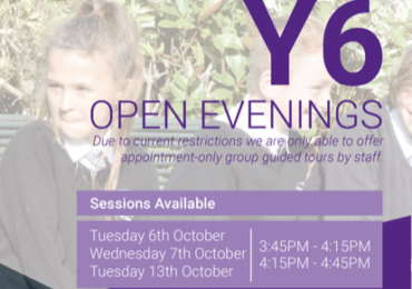 Year 6 Open Evenings at Thrybergh Academy